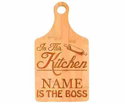 'In the Kitchen I'm the Boss' Cutting Board