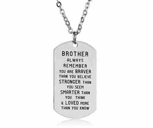 Brother Necklace – Always Remember You Are Greater Than You Believe