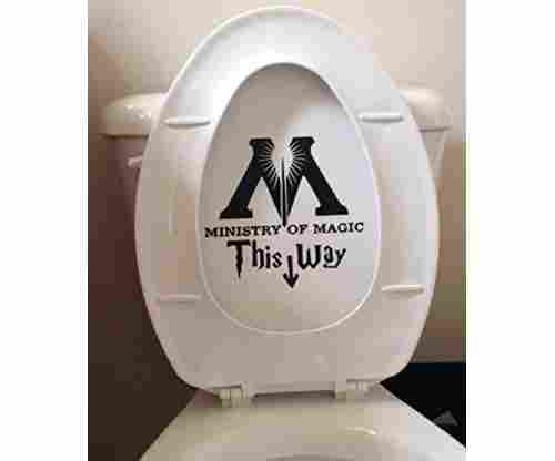 Ministry of Magic – Toilet Harry Potter Decal Sticker