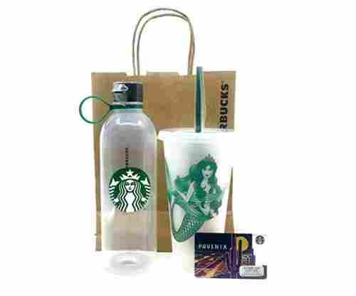 Starbucks Water Bottle and Reusable Cold Cup Tumbler w/Lid and Straw