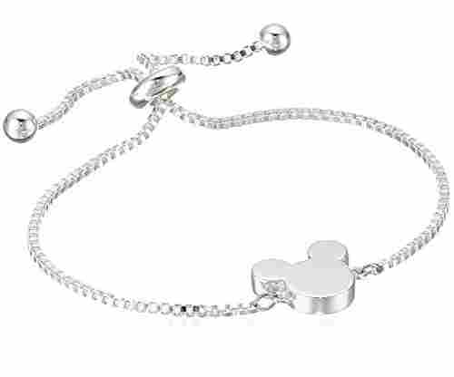 Disney Silver Plated Adjustable Pull Bracelet