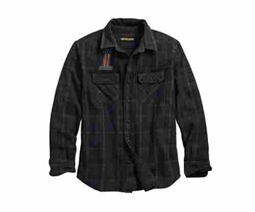 Harley-Davidson Men's Over-Dyed Plaid Shirt