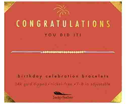 Lucky Feather Birthday  Bracelet