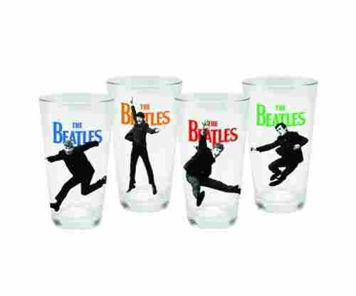 Vandor 54162 The Beatles 4 Piece Glass Set