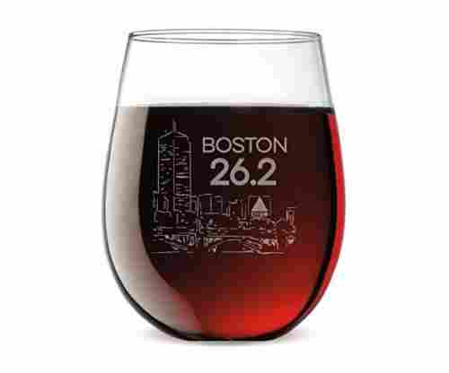 Gone For a Run Stemless Wine Glass