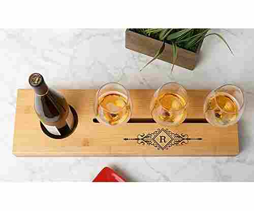 Personalized Wine Bottle Glass Tray