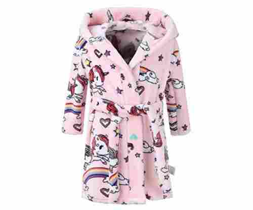 Unisex Children's Flannel Bathrobes Hoodie