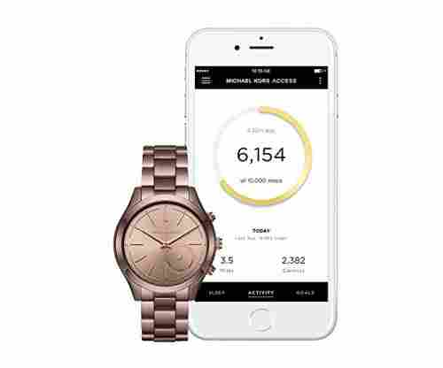 Michael Kors Sable IP Slim Runway Hybrid Smart Watch