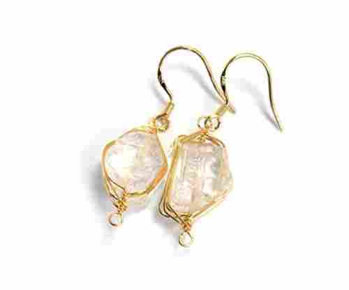 Scutum Craft Handmade Gemstone Dangle Earrings/Wearable Art