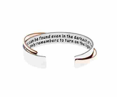 Wise Wizard Quote Cuff Bracelet
