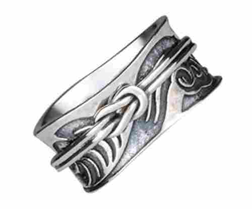 Energy Stone Tsunami Art Meditation Spinner Ring