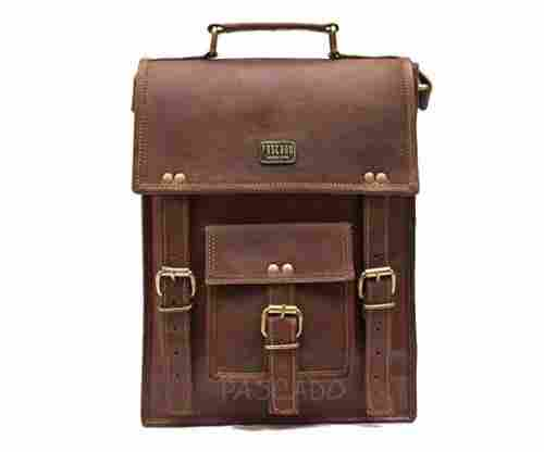 "Pascado 13"" Leather Laptop Crossbody Satchel"