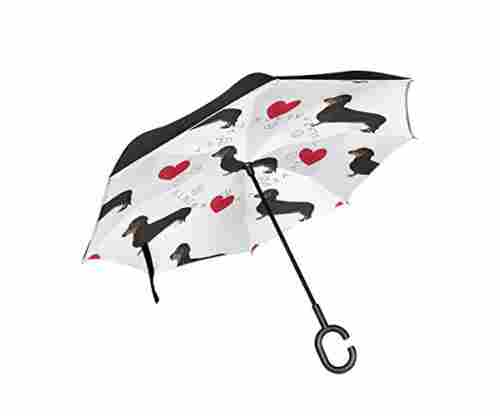 Inverted Umbrella – Dachshund Cute Design