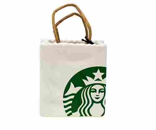 Starbucks Limited Ceramic Tote Holiday Christmas Tree Ornament