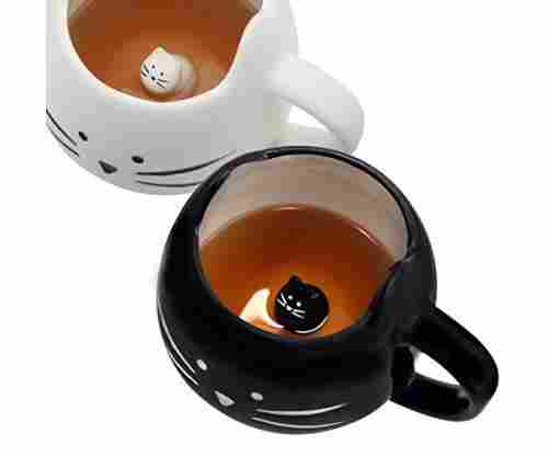Koolkatkoo Cute Cat Ceramic Coffee Mug Set