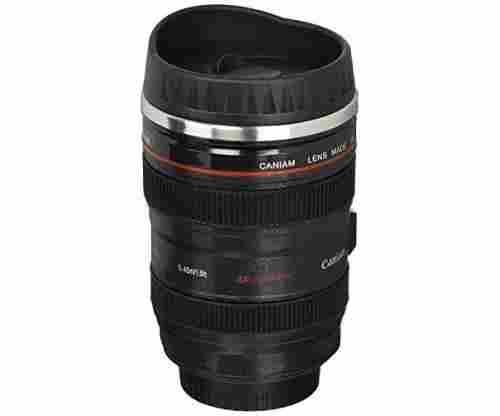 Travel Thermos Camera Lens Coffee Mug