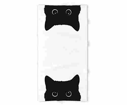 Society6 Black Cat Bath Towel