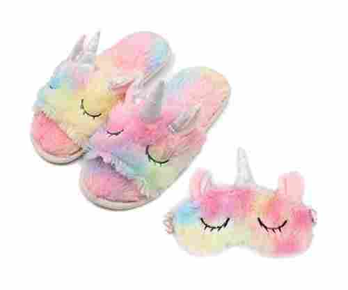 ZTL Unicorn Sleeping Mask and Slippers Set