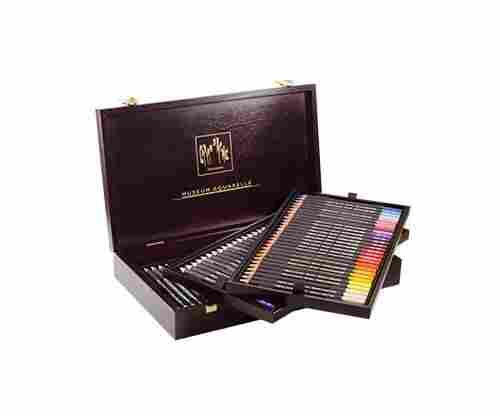 Caran D'ache Museum Aquarelle Watercolor Pencils – 72 Colors in a Wood Box
