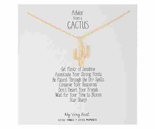 My Very Best Stay Sharp Cactus Necklace