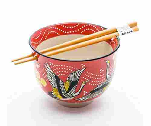 Japanese Ramen Udon Noodle Bowl with Chopsticks Gift Set