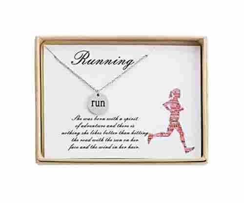 Running Necklace – Disc Sport Pendant
