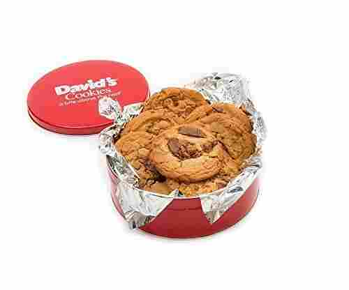 David's Cookies — Peanut Butter Chunk Fresh-Baked Oversized Decadent Cookie Tin