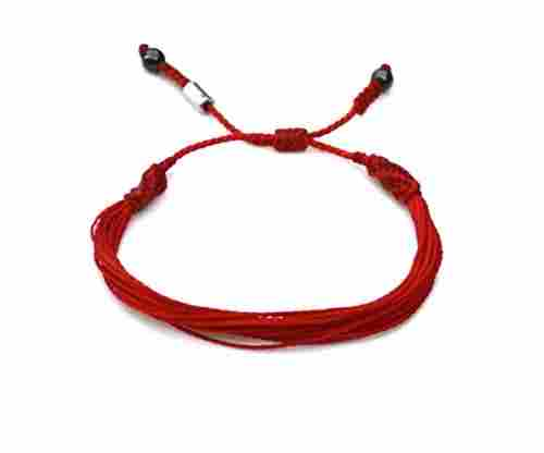 Red String Bracelet with Hematite Stones for Men