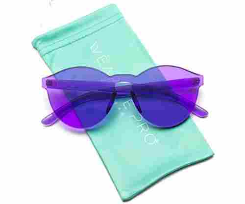 WearMe Pro – Colorful One Piece Round Sunglasses