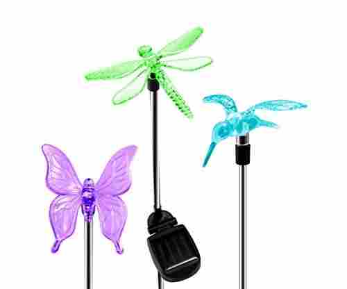 OxyLED Solar Garden Lights – 3 Pack Solar Garden Stake Light