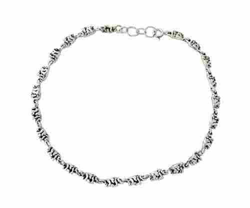 NOVICA 925 Sterling Silver Animal Handmade Link Anklet