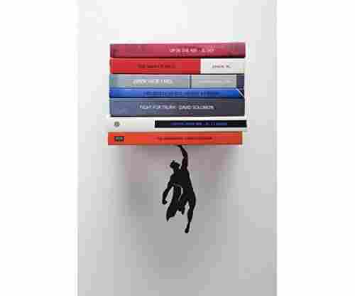 "Artori Design ""Supershelf"" – Black Metal Superhero Floating Bookshelf"