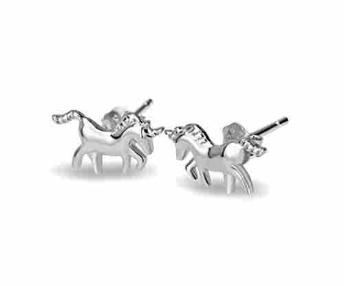 Unicorn Sterling Silver Stud Earrings
