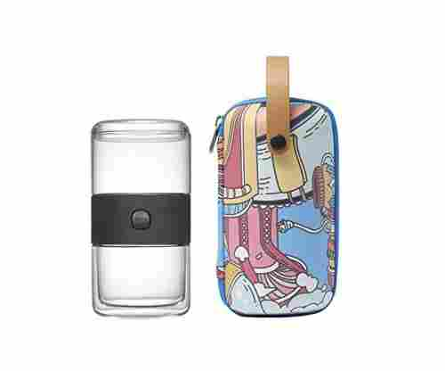ZENS Travel Tea Sets – Glass Kung Fu Tea Pot with Portable Case