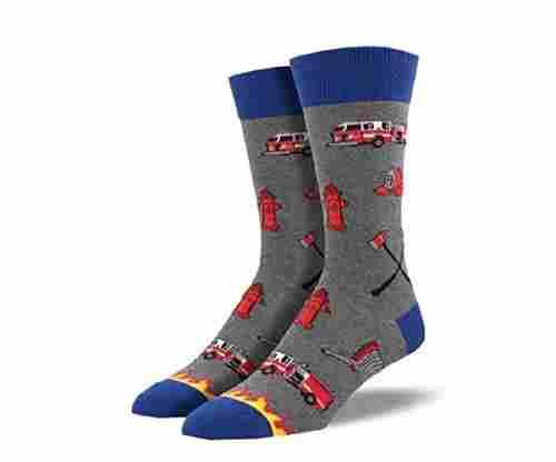 """Socksmith Mens' Novelty Crew Socks """"Firefighter"""""""