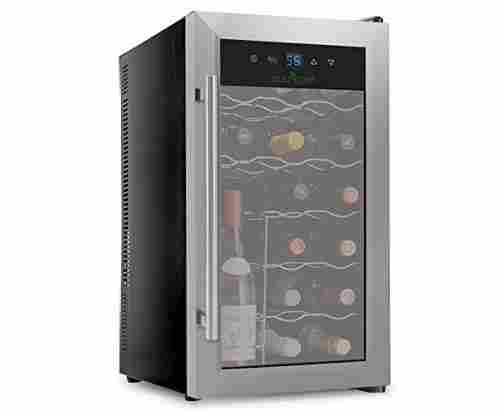 NutriChef 18 Bottle Thermoelectric Red And White Wine Cooler