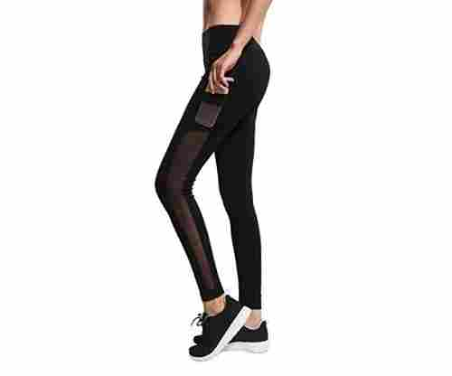 Women's Yoga Capri Legging Mesh Tights
