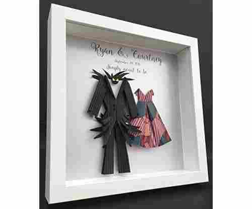Nightmare Before Christmas -Jack and Sally Shadowbox Frame Wall