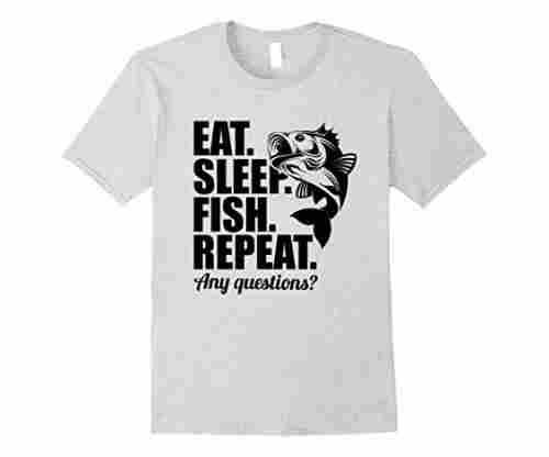 Eat Sleep Fish Repeat Funny T-Shirt