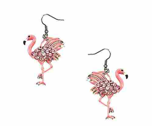 DianaL Boutique Pink Flamingo Earrings