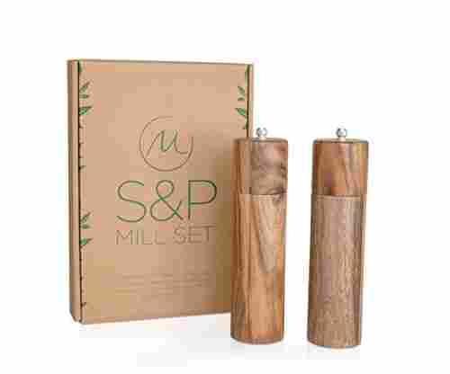 Merazi Living – Wooden Salt and Pepper Grinder Set in Acacia Wood