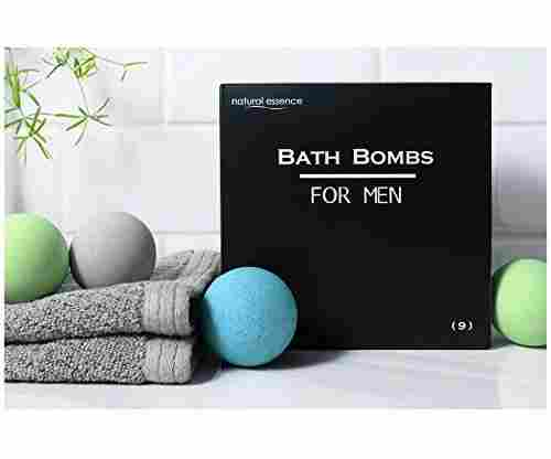 Men's Bath Bomb Set of 9 by Natural Essence