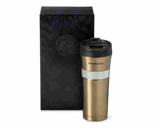 Starbucks Gold Swarovski Tumbler with Wooden Box