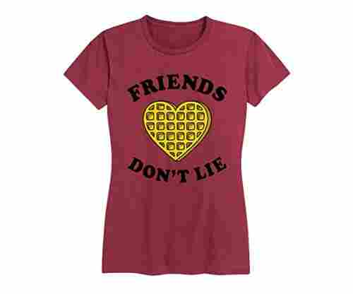 Friends Don't Lie Waffle – Ladies Short Sleeve Classic Fit Tee