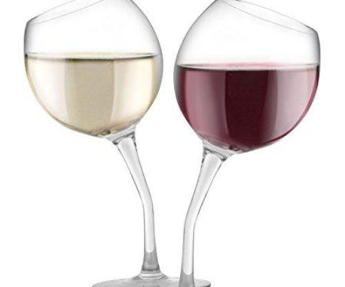 KOVOT Tilted Wine Glass Set, 13 oz