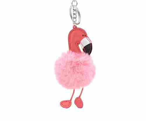 Fashion Flamingo Keychain Plush Doll Pendant