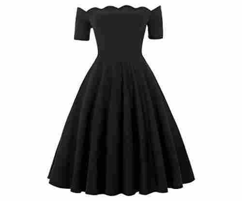 Belle Poque Women's Off Shoulder Swing Dress