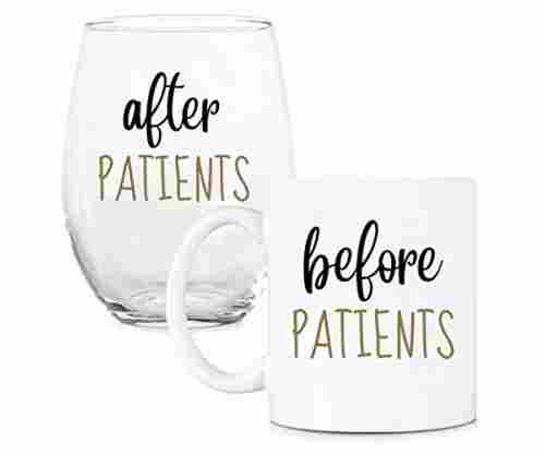 Before Patients and After Patients Coffee Cup and Wine Glass Set
