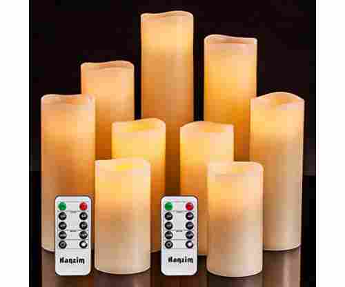HANZIM Flameless Candles | Battery Operated Candles