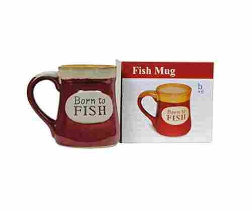 """Born To Fish"" Coffee Mug with Fisherman's Serenity Prayer"